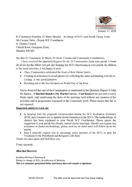 SCC Quarterly Report - Jan 2020