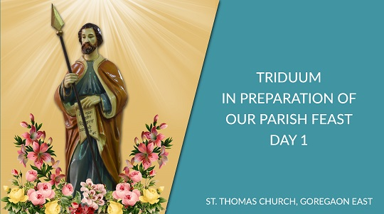 Parish Feast Preparation: Triduum Day 1