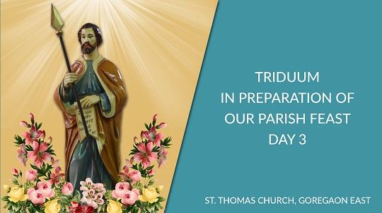 Parish Feast Preparation: Triduum Day 3