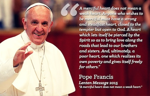 Pope Francis' Lent Message 2015